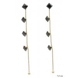 Kolczyki Xuping ze stali chirurgicznej 14k - MF7728