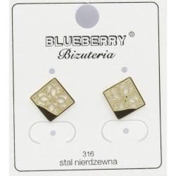 Kolczyki Blueberry Stal 316L - BBK9507