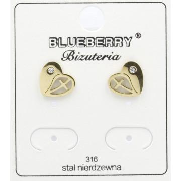 Kolczyki Blueberry Stal 316L - BBK8020