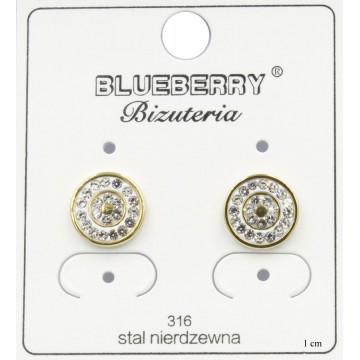 Kolczyki Blueberry Stal 316L - BBK1211