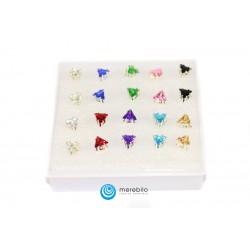 Kolczyki sztyfty silikonowe - 504785-3 - trójkąty