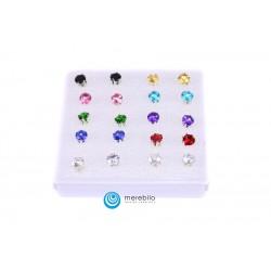 Kolczyki sztyfty silikonowe - 504785-1 - okrągłe