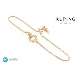 Bransoletka pozłacana 18k - Xuping - 509883-2