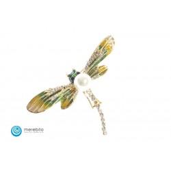 Biżuteria sztuczna Broszka - ważka - FM11472-1