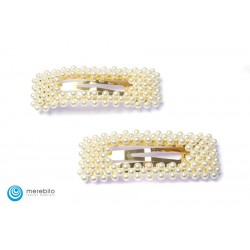 Spinki do włosów perłowe 7,5 cm - FM13165-1