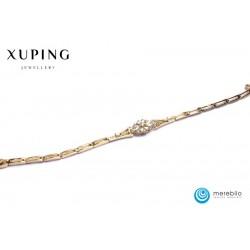 Bransoletka pozłacana 18k - Xuping - FM12646