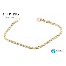 Bransoletka pozłacana 18k - Xuping - FM13922