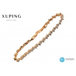 Bransoletka pozłacana 18k - Xuping - MF0633