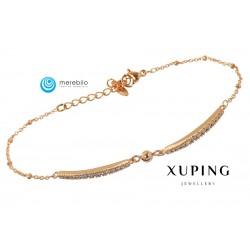 Bransoletka pozłacana 18k - Xuping - MF0638