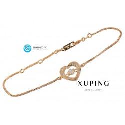 Bransoletka pozłacana 18k - Xuping - MF0639