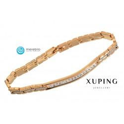 Bransoletka pozłacana 18k - Xuping - MF0650