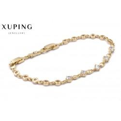 Bransoletka pozłacana 18k - Xuping - MF0627