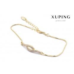 Bransoletka pozłacana 18k - Xuping - MF0637
