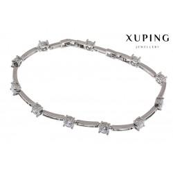 Bransoletka rodowana - Xuping - MF1479