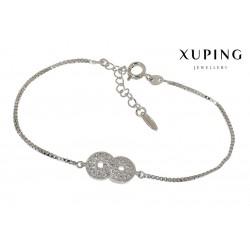 Bransoletka rodowana - Xuping - MF1482