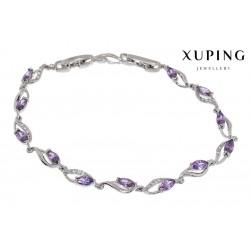 Bransoletka rodowana - Xuping - MF1379