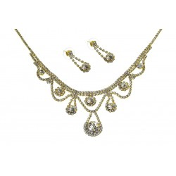 Komplet biżuterii dżetowy - MF2064-2