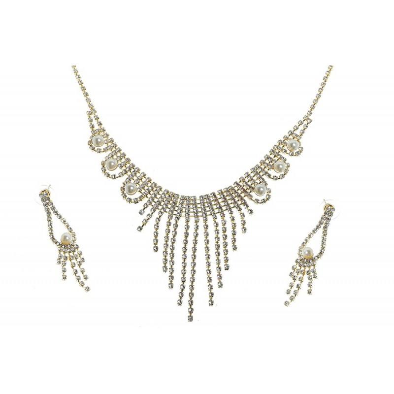 Komplet biżuterii dżetowy - MF0448A-2