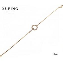Bransoletka pozłacana 18k - Xuping - MF2648