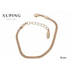 Bransoletka pozłacana 18k - Xuping - MF2573