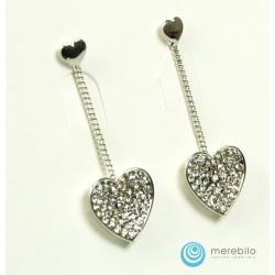 Kolczyki wiszące serca LS5562