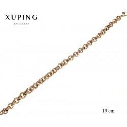 Bransoletka pozłacana 18k - Xuping - MF2371