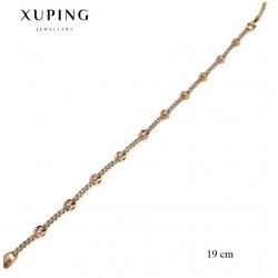 Bransoletka pozłacana 18k - Xuping - MF2306