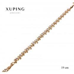 Bransoletka pozłacana 18k - Xuping - MF2596-2
