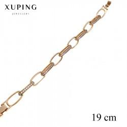 Bransoletka pozłacana 18k - Xuping - MF2756-1