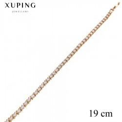 Bransoletka pozłacana 18k - Xuping - MF2761-2