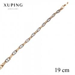 Bransoletka pozłacana 18k - Xuping - MF2770